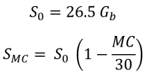 percent volume wood shrinkage formula calculations